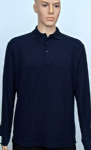 Long Sleeve Polo Shirt (Sizes 3XL-4XL = 50-54)